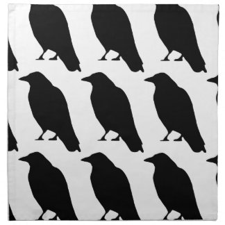 Silueta del cuervo servilletas imprimidas