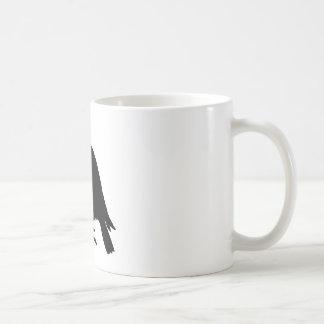 Silueta del cuervo taza de café