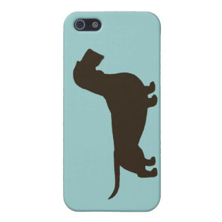 Silueta del Dachshund Dachsie Wirehaired iPhone 5 Fundas