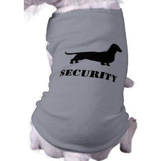 Silueta del Dachshund - perro de la SEGURIDAD Playera Sin Mangas Para Perro