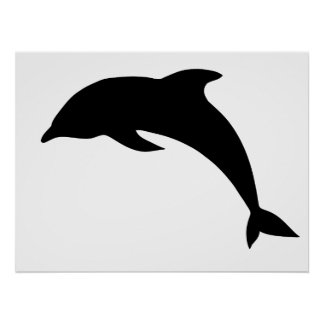Silueta del delfín posters
