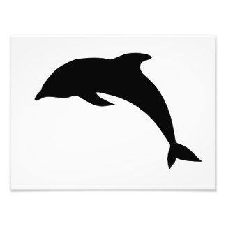 Silueta del delfín arte con fotos