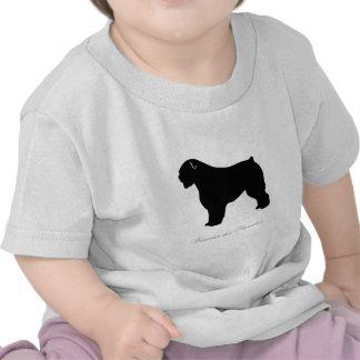 Silueta del DES Flandres de Bouvier Camisetas