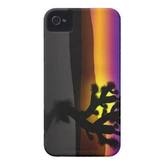 Silueta del desierto de la yuca iPhone 4 Case-Mate carcasas