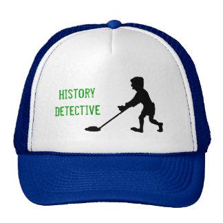Silueta del detective de la historia del detector  gorro