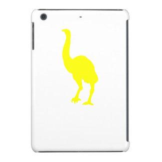 Silueta del Dinornis (amarillo) Funda Para iPad Mini Retina