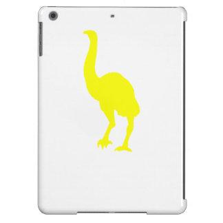 Silueta del Dinornis (amarillo) Funda Para iPad Air