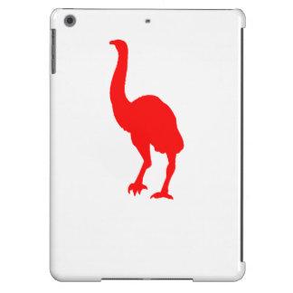Silueta del Dinornis (roja) Funda Para iPad Air