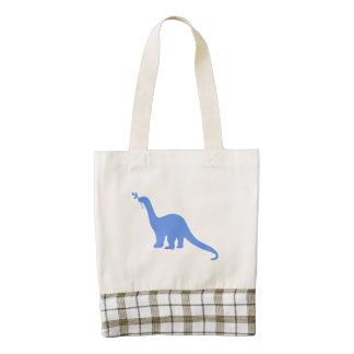 Silueta del dinosaurio (azul)