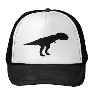Silueta del dinosaurio de Dino del Allosaurus Gorros