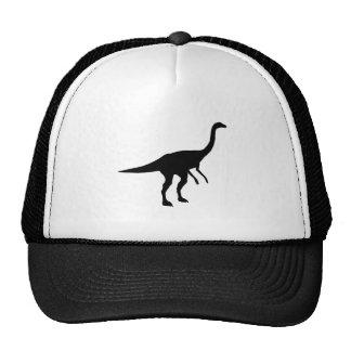 Silueta del dinosaurio de Gallimimus Dino Gorros Bordados