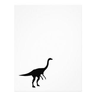 Silueta del dinosaurio de Gallimimus Dino Membretes Personalizados