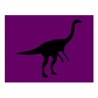 Silueta del dinosaurio de Gallimimus Dino Tarjetas Postales