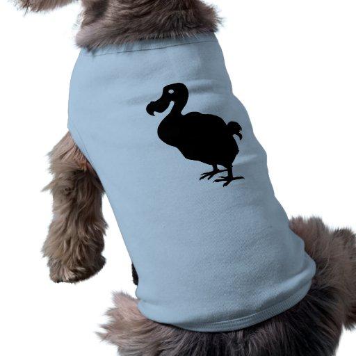 Silueta del Dodo Camisa De Mascota