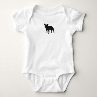 Silueta del dogo francés body para bebé