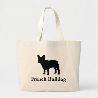 Silueta del dogo francés bolsa de mano