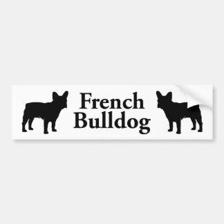 Silueta del dogo francés pegatina para auto