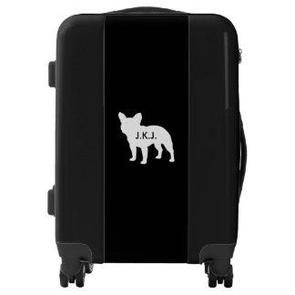 Silueta del dogo francés personalizada maletas