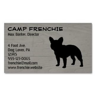 Silueta del dogo francés tarjetas de visita magnéticas (paquete de 25)