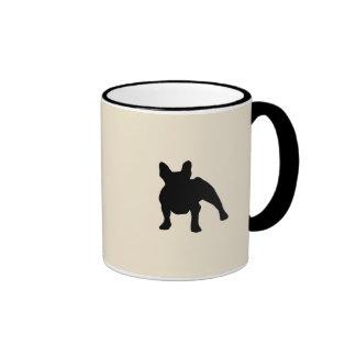 Silueta del dogo francés taza