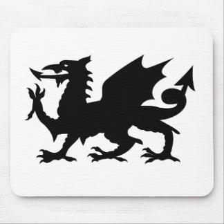 Silueta del dragón Galés Alfombrilla De Ratones
