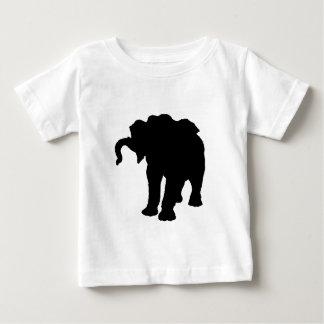 Silueta del elefante del bebé del arte pop t shirt