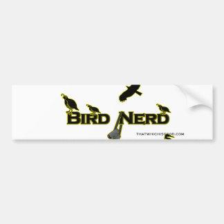 Silueta del empollón del pájaro etiqueta de parachoque