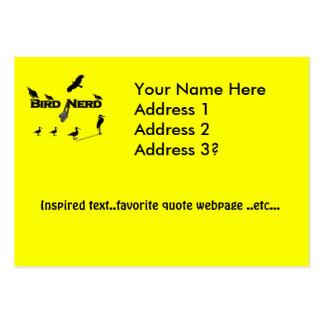 Silueta del empollón del pájaro plantilla de tarjeta personal