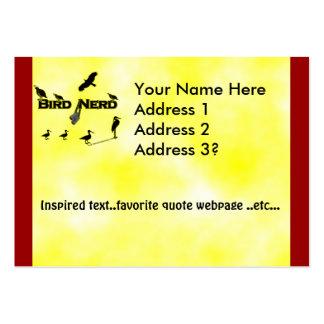 Silueta del empollón del pájaro plantilla de tarjeta de negocio