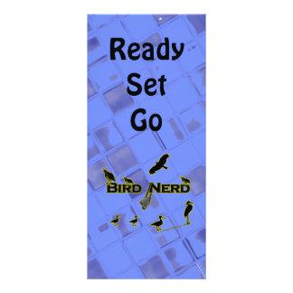 Silueta del empollón del pájaro tarjeta publicitaria