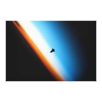 Silueta del esfuerzo del transbordador espacial lona estirada galerias