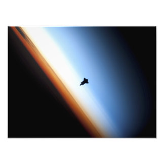 Silueta del esfuerzo del transbordador espacial arte con fotos
