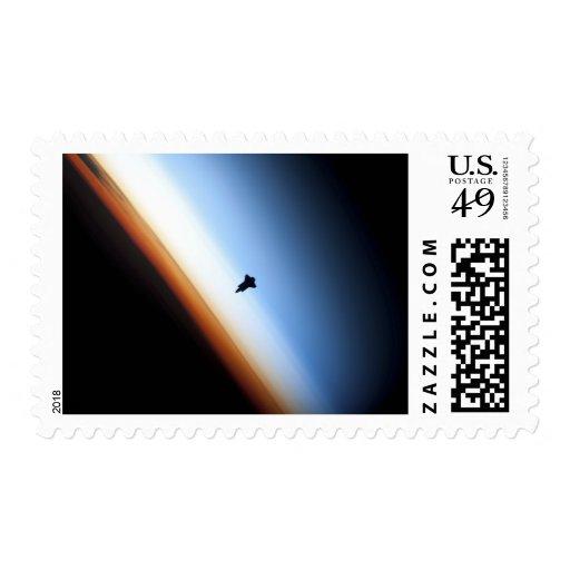 Silueta del esfuerzo del transbordador espacial sello
