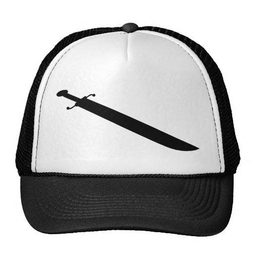 Silueta del esquema de la espada gorros bordados