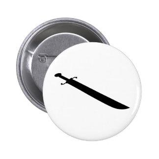 Silueta del esquema de la espada pin