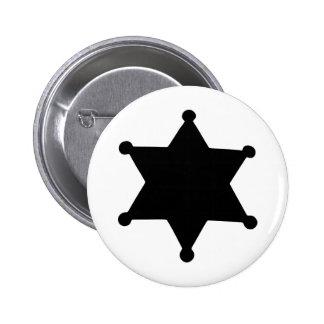 Silueta del esquema de la estrella del sheriff pin