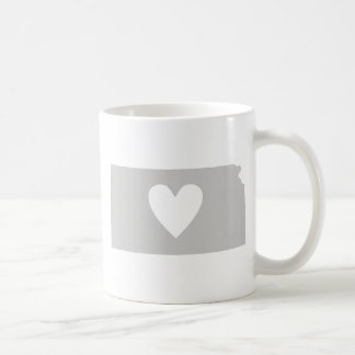 Silueta del estado de Kansas del corazón Tazas De Café