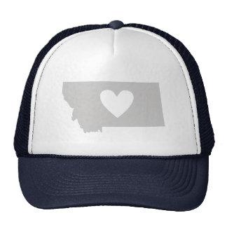 Silueta del estado de Montana del corazón Gorros