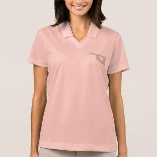 Silueta del estado de Oklahoma del corazón Polo Camisetas