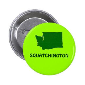 Silueta del estado de Squatchington Washington Chapa Redonda 5 Cm