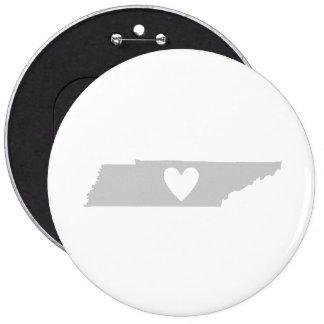 Silueta del estado de Tennessee del corazón Pin Redondo 15 Cm