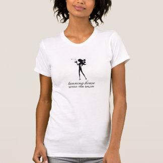 Silueta del fashionista del moreno de 311 aerosole camisetas
