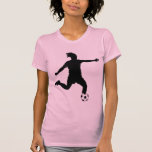 Silueta del fútbol en camisa negra
