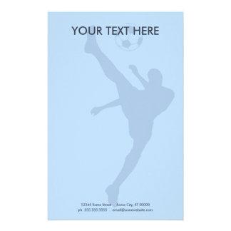 silueta del fútbol papeleria de diseño