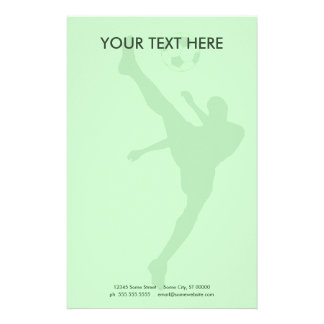 silueta del fútbol papelería personalizada