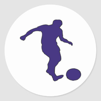 Silueta del fútbol pegatinas redondas