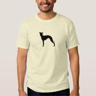 Silueta del galgo italiano camisas