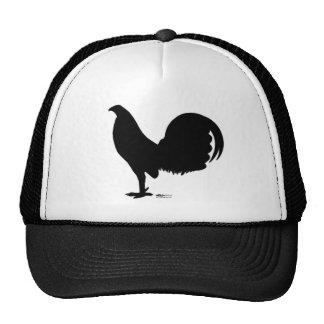 Silueta del gallo del gallo de pelea gorras de camionero