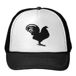 silueta del gallo en alegría del paece gorros bordados