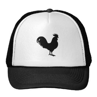 Silueta del gallo gorra